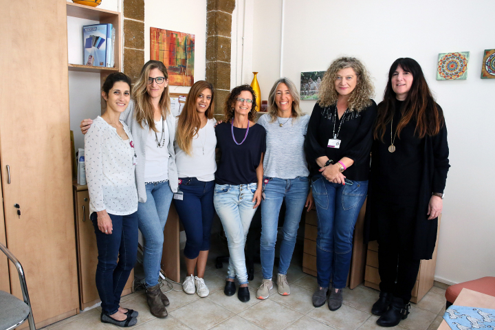 Staff from the Daily Eating Disorder Treatment Service at Rambam. Photo Credit: Pioter Fliter