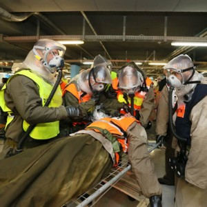In the picture: The Chemical Attack drill at RHCC.