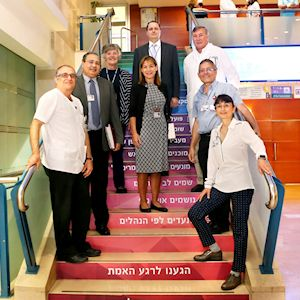 ​The JCI examination team with 
