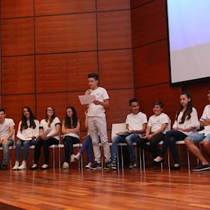 ​Students presenting the results during