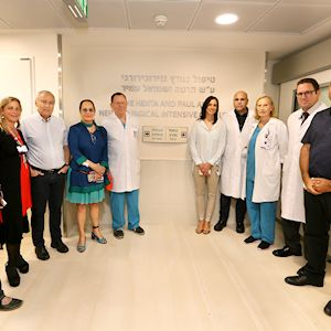 Rambam administration and staff at the opening 